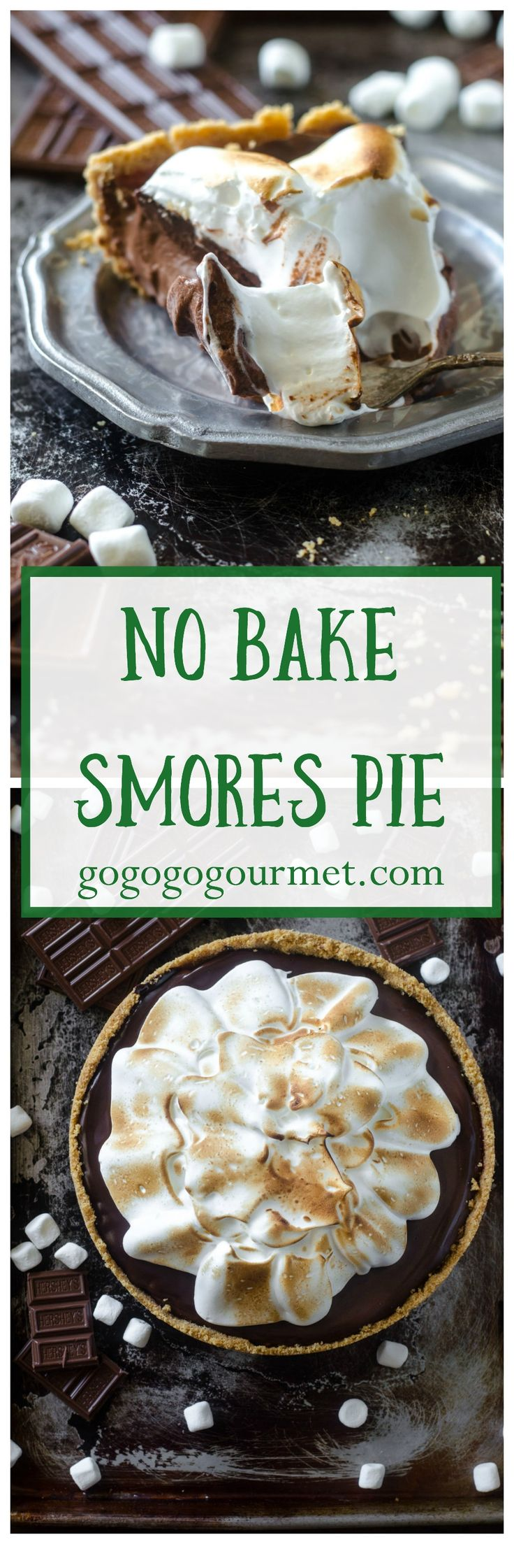 This No Bake Smores Pie is so incredible, you'll never believe that its semi-homemade! | Go Go Go Gourmet @gogogogourmet