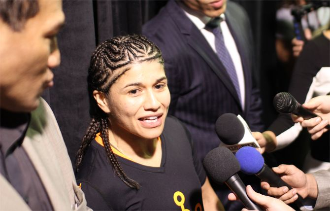 Jessica Aguilar: I Am The Number One Strawweight In The World - http://www.apocalypsemma.com/2014/01/jessica-aguilar-i-am-the-number-one-strawweight-in-the-world/