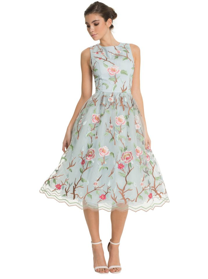 Chi Chi London floral chiffon dress