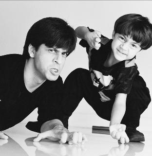 Shahrukh and his son Aryan