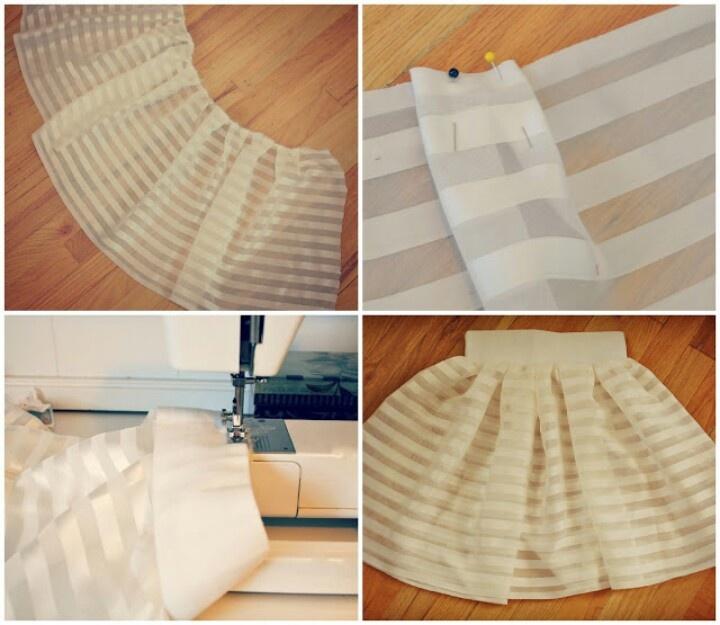 Diy skirt from curtain