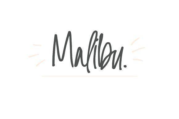 Malibu   Handwritten Font + Extras by Jen Wagner Co on @creativemarket