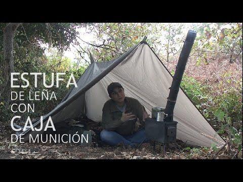 Cómo hacer una estufa de madera con una caja de munición DIY supervivencia o prepper печь спутник - YouTube