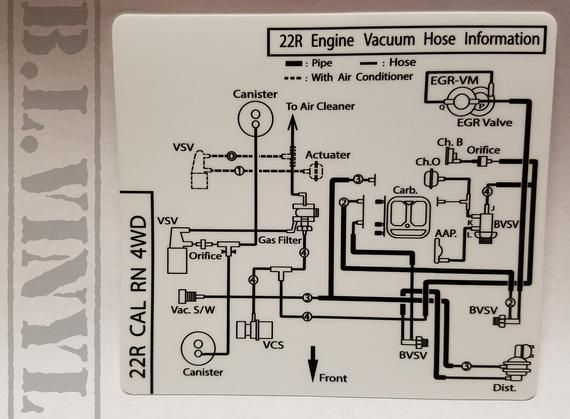 1983 22r Engine Vacuum Hose Information Cal Rn 4wd Electrical Diagram Vacuums Automotive Repair