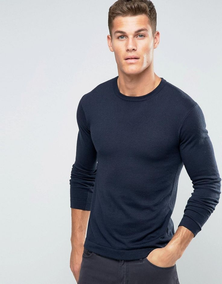 Image 1 ofUnited Colors of Benetton Viscose mix Crew Neck Jumper