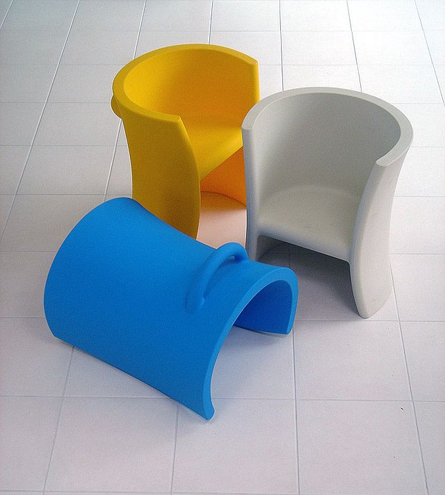 Trioli chairs by Aero Aarnio for kids