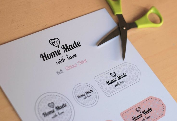 Home made with love free printable tags