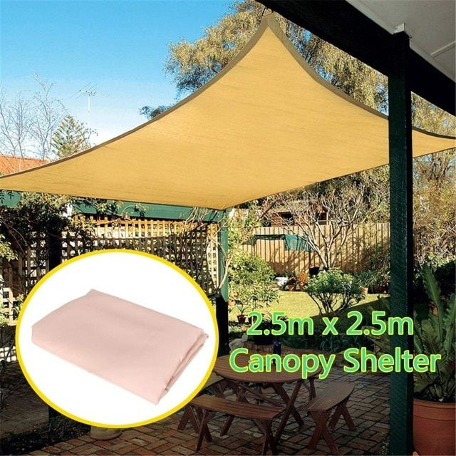 2 5x2 5m Rectangle Top Sun Shade Sail Shelter Outdoor Garden Outdoor Sun Shelter Patio Car Cover Awning Canopy Car Cover Review Sun Sail Shade Outdoor Gardens Shade Sail