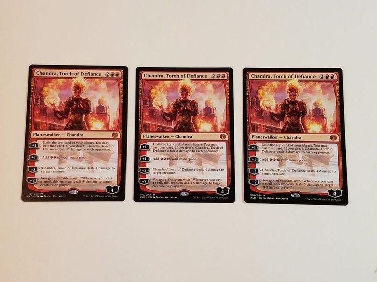 MTG Magic Kaladesh 3x Chandra Torch of Defiance Mythic Rare Red Planeswalker NM #WizardsoftheCoast