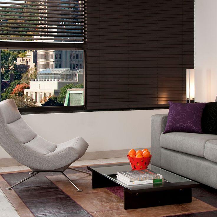 Persiana de PVC horizontal ideal para salas de estar, recámaras y/o cocinas.