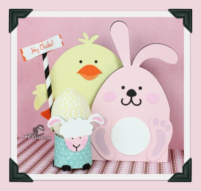 153 best easter cards images on pinterest cricut bunnies and create cute bunny and chick gift cards for easter using glue dots and svg cuts from lettering delights negle Images