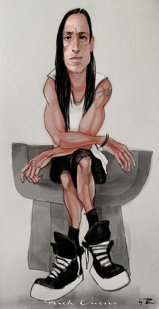 rick owens sketch by me