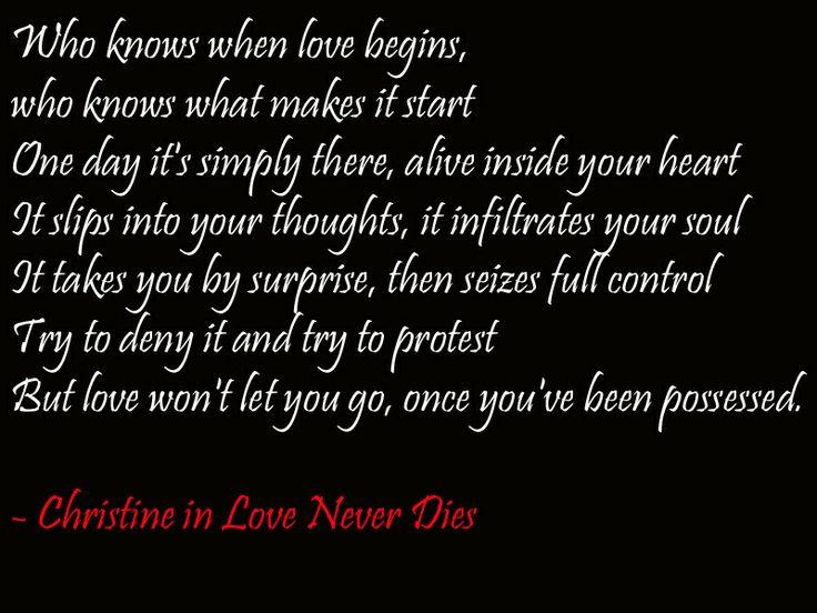 Christine Daae in Love Never Dies musical lyrics quotes ...