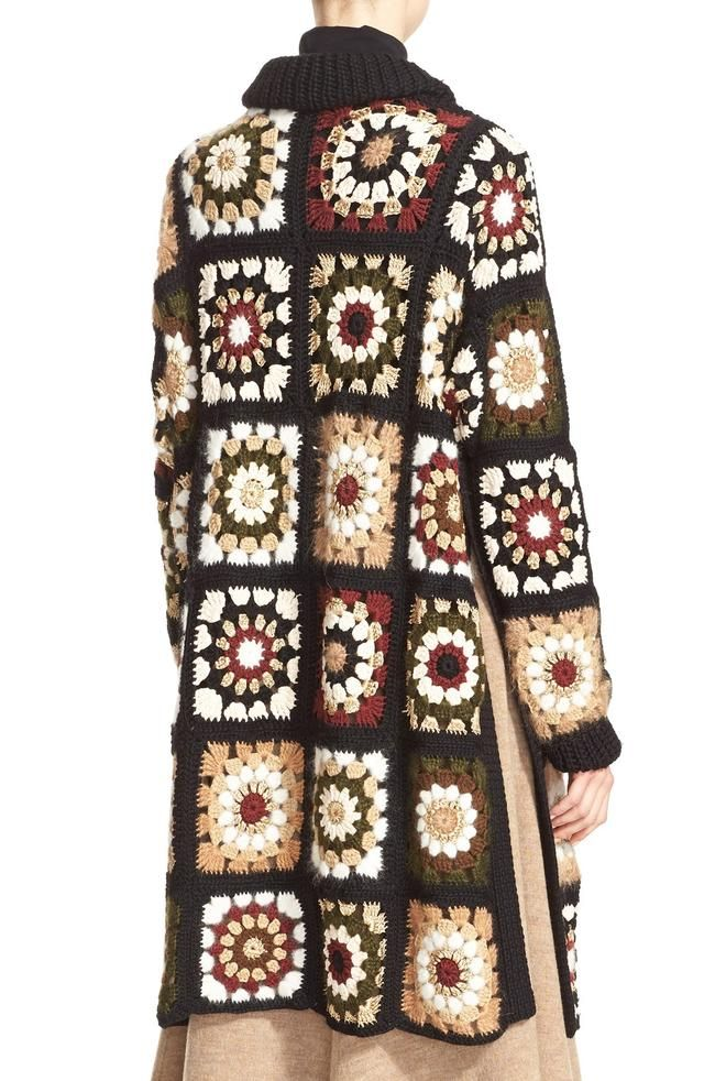Granny Square Cardigan by Rosetta Getty