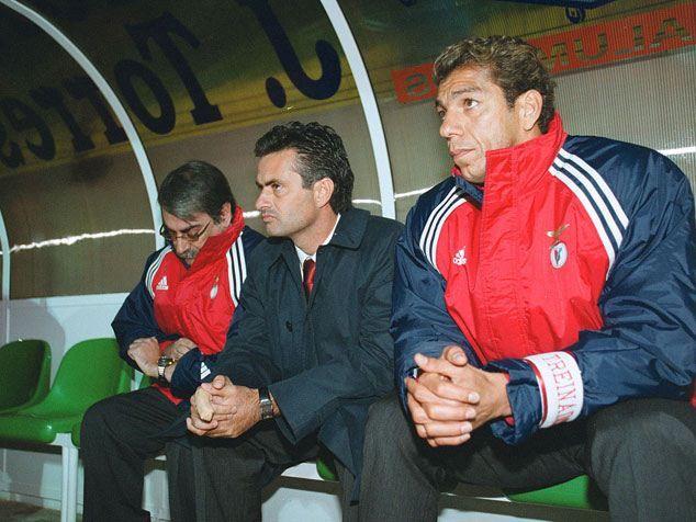José Mourinho + Mozer + Álvaro Braga Júnior. Benfica 2000/01.