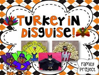 Complete this Turkey in Disguise project during the month of November! Included -- *2 templates to use digitally on Pic Collage and Seesaw (to record story and share) *2 turkey template options *examples of disguised turkeys *bulletin board signs/letters *various writing options *writing planning sheets *bonus compare/contrast and adjectives worksheets