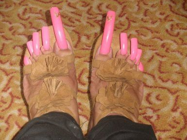 EXTREMELY LONG TOENAILS | long nails Really Long Toenails ... - photo#23