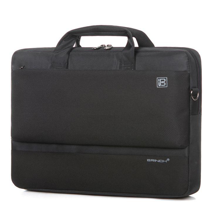 BRINCH computer bag 17 inch waterproof nylon material 17.3 inch single shoulder laptop bag BW-209