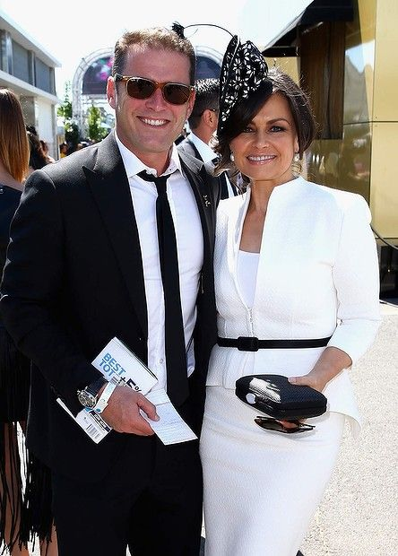 Karl Stefanovic and Lisa Wilkinson arrive on Victoria Derby Day at Flemington Racecourse 2013