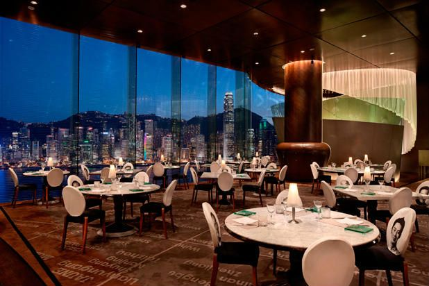 Felix at The Peninsula Hotel (Hong Kong)   named after Felix M. Bieger, a 60-year veteran of The Peninsula Hotels and three-time general manager of this Peninsula — is a feast for the senses. Located on the swanky hotel's 28th floor, the restaurant offers great visuals both inside and out. When Felix first opened its doors in 1994 as part of the Peninsula's Tower extension, it was the first rooftop restaurant in Kowloon and the first restaurant in Asia designed by Philippe Starck.
