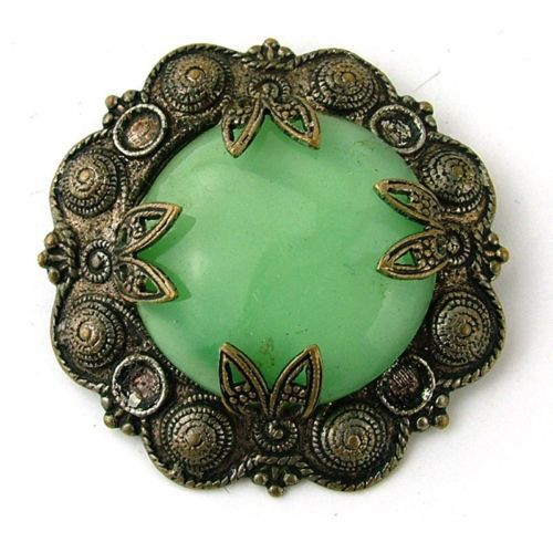 Gothic Celtic Pressed Metal Green Kilt Pin Brooch Pin Vintage Jewellery Retro   eBay