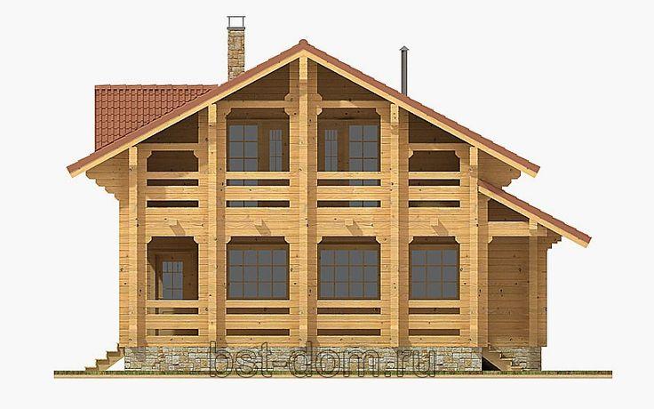 Лучший дом блог компании: Недорогие дома из профилированного бруса.Общая пло...
