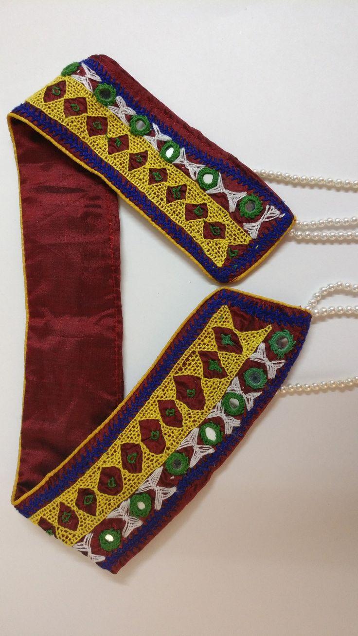 Costume jewelry#gujrat Kutch tradition # neckpiece #own creation