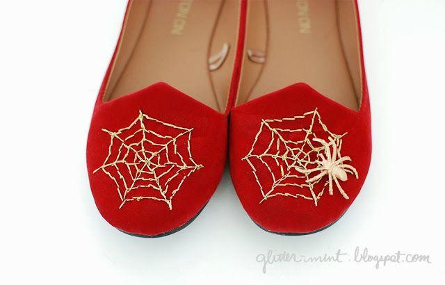 Charlotte Olympia remake DIY spider web flats