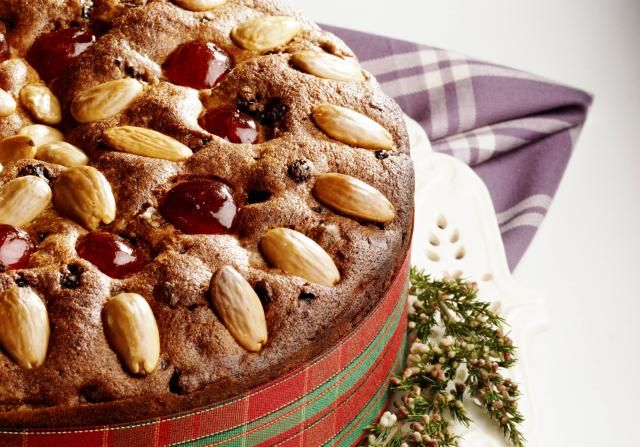 The classic for Christmas if the traditional Scottish Dundee cake. Full of fruits, ornage and a wee drop of Whisky. Delicious.