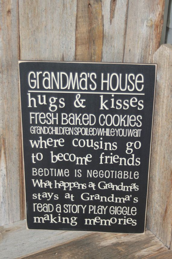 GRANDMA'S HOUSE  or Grandma/Grandpa's House  Board by invinyl, $16.00