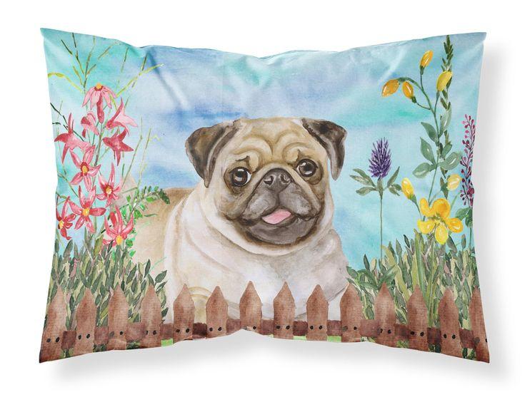 Fawn Pug Spring Fabric Standard Pillowcase CK1280PILLOWCASE