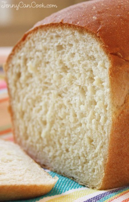 Easy White Bread Recipe from Jenny Jones (JennyCanCook.com) - You won't find a faster recipe for a soft white sandwich loaf. With just one rise, it's ready to eat in 90 minutes.