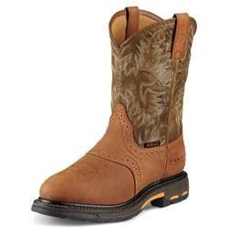 Waterproof WorkHog Pull-On Composite Men's Work Boots by Ariat