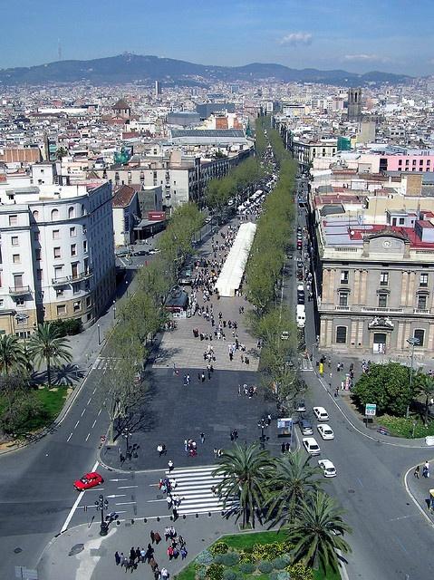 Barcelona Rambla by Arnim Schulz, via Flickr