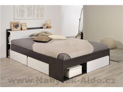 Manželská postel s šuplíky Most-1430L260