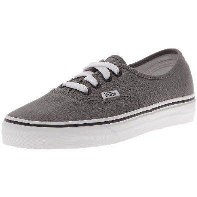 vans u authentic pewter/black unisex-erwachsene sneaker