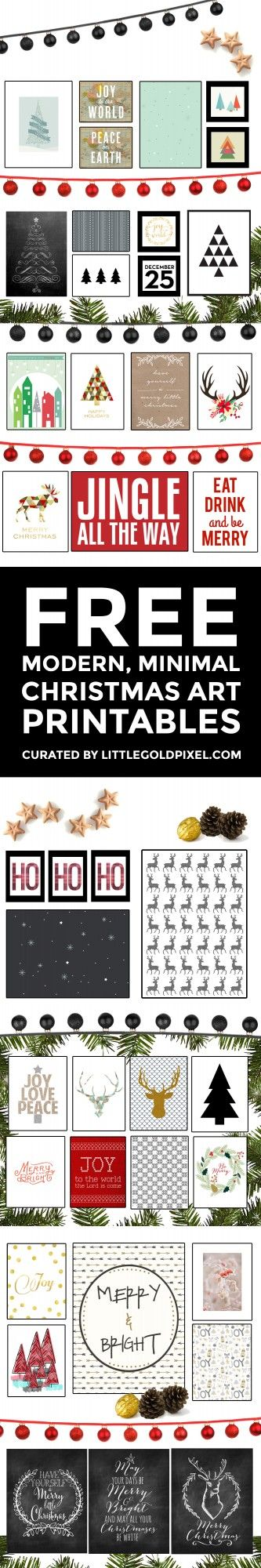 Free Art Printables • Design Resources •Little Gold Pixel