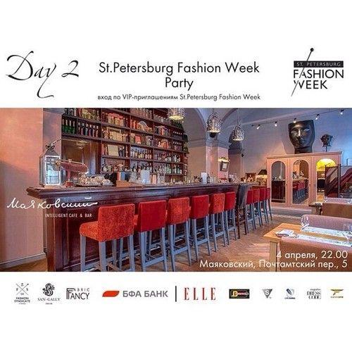 """St.Petersburg Fashion Week Party в intelligent cafe & bar """"Маяковский""""spbfashionweek.ru #spbfw #fashionparty #mayakovskibar"""