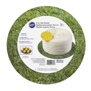 WILTON GREEN GRASS 12IN CAKE BOARDS 3 PACK