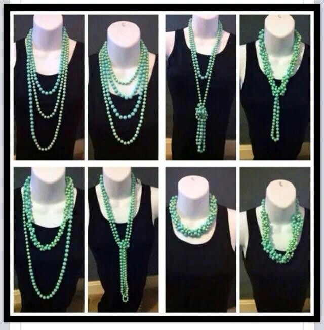 Seabreeze -  multiple ways to wear this beautiful 90 inch necklace!  Dixielong.mypremierdesigns.com password: Hope
