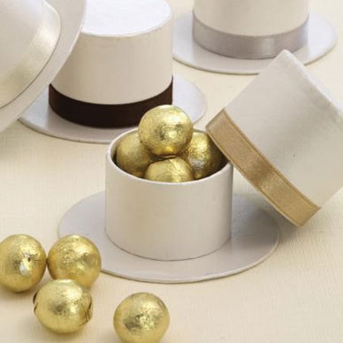 Gold Top Hat Favour Boxes - 10 Pack