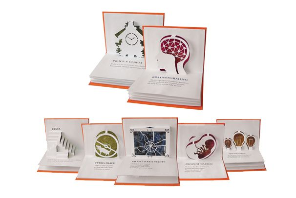 Produktový design FMK UTB - Pop-up kniha pro ateliér 3D design