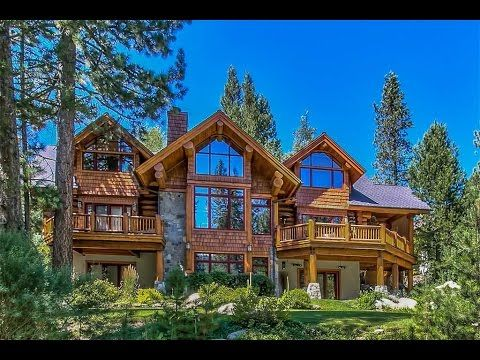 Log Home Living in Olympic Valley, California - YouTube