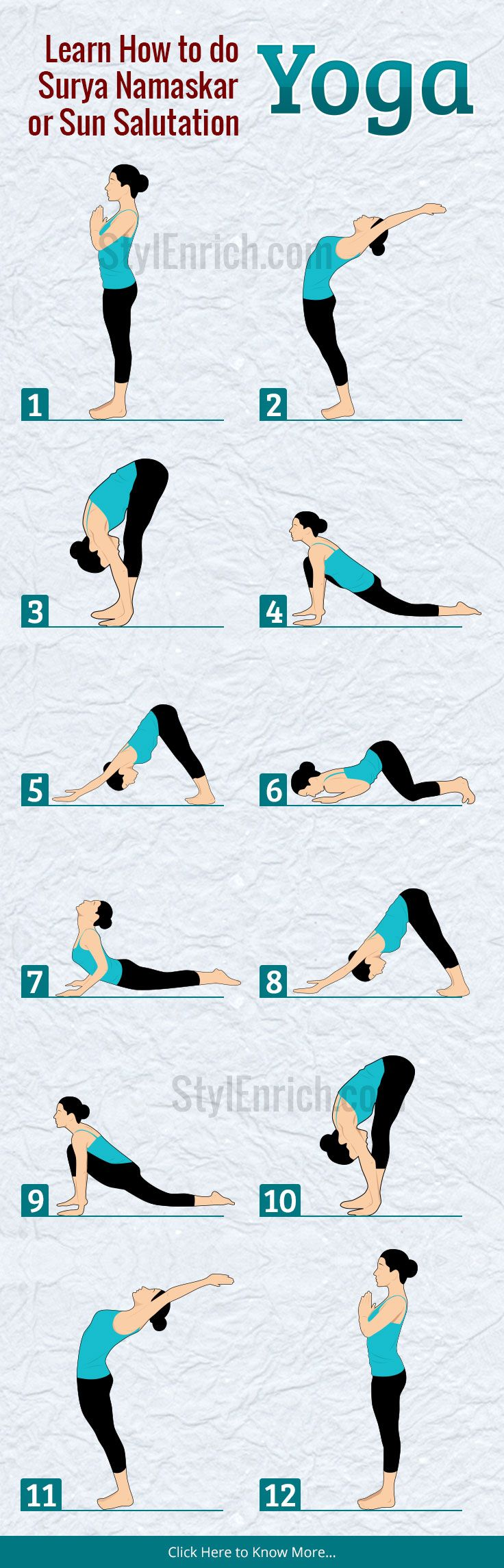 #SuryaNamaskar #Yoga is all about good health, especially for those, stressed out after day's work. Let's see 12 Steps of Surya Namaskar Yoga and how to do it.