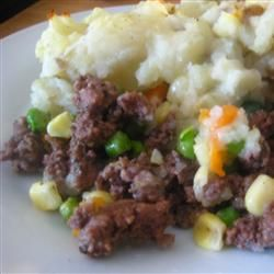 Elk Shepherd's Pie :) *MADE WITH GROUND DEER MEAT 12/4/2012 *VERDICT* YUMM! ADDED CHEESE ON TOP*