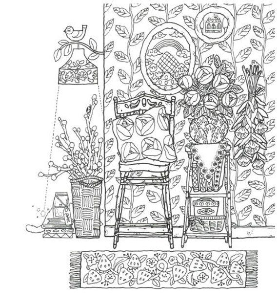 Vintage My Room Coloring Book By Lee Jung Hyunadult Coloring Etsy Coloring Books Coloring Pages Coloring Pages For Grown Ups