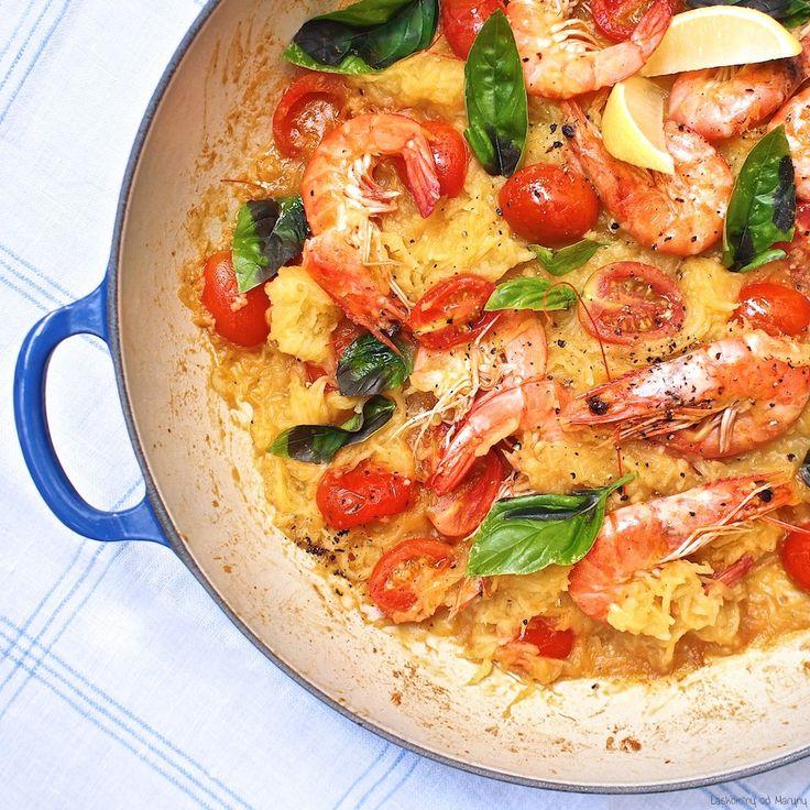Laskominy od Maryny: Špagetová dýně s krevetami a cherry rajčaty