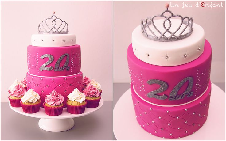 Tiara's cake  - gâteau diadème - Un Jeu d'Enfant , Cake design , Nantes