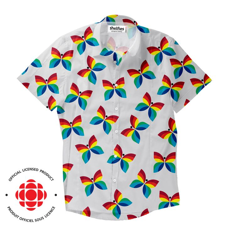 """""""Created in 1966 by Hubert Tison, the CBC/Radio-Canada rainbow butterfly logo was unveiled with the introduction of colour TV"""""""