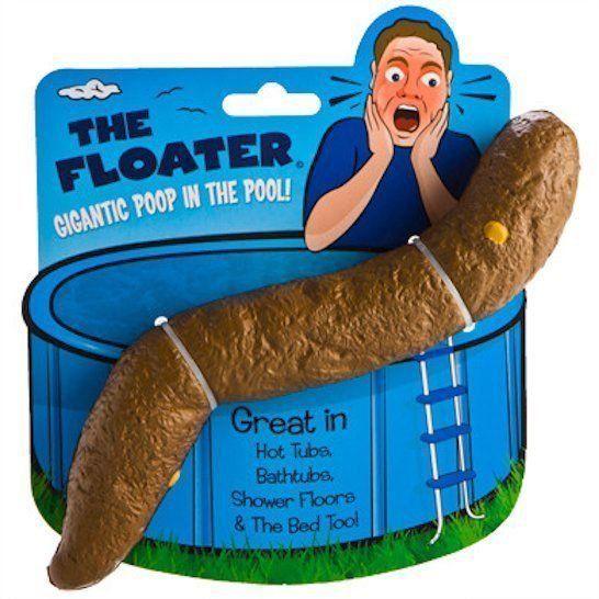 1 Huge 10 Inch Floating Poop Fake Turd For Pool Hot Tub